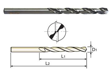 Pack of 5 135 Degree Straight Shank Slow Spiral 15//32 Diameter x 6 Length YG-1 D1601 High Speed Steel Split Point Aircraft Extension Drill Bit